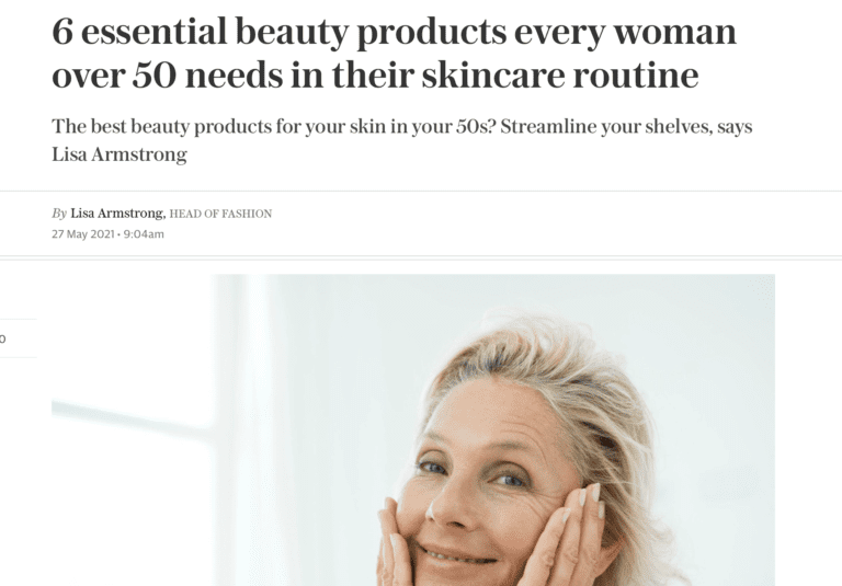 TELEGRAPH – 6 essential beauty products every woman over 50 needs